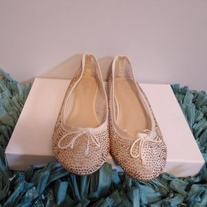 Forever Gold Glitter Flat Shoes
